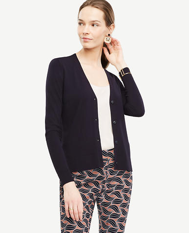 Image of Petite V-Neck Cardigan