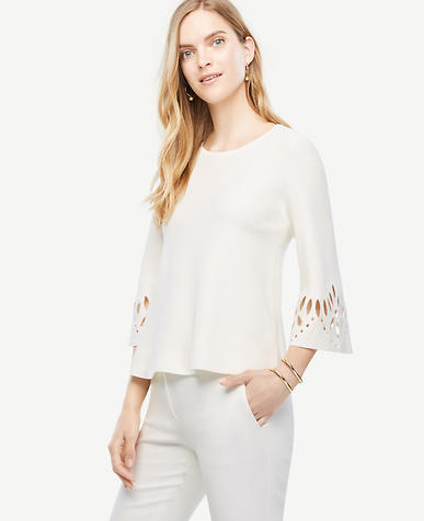 Image of Cutout 3/4 Sleeve Sweater