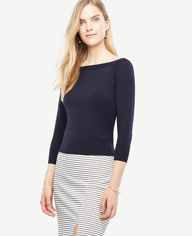 Image of Petite Off The Shoulder Sweater