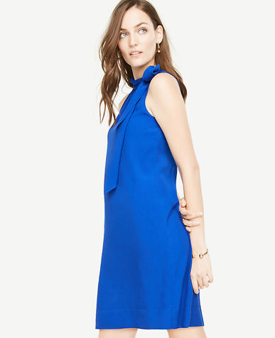 Image of Tall Tie Neck Shift Dress
