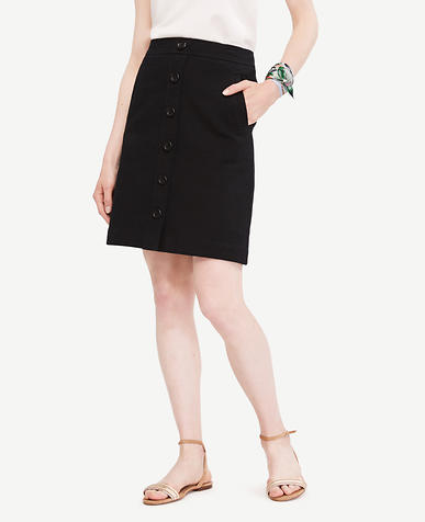 Image of Tall Button Front Skirt