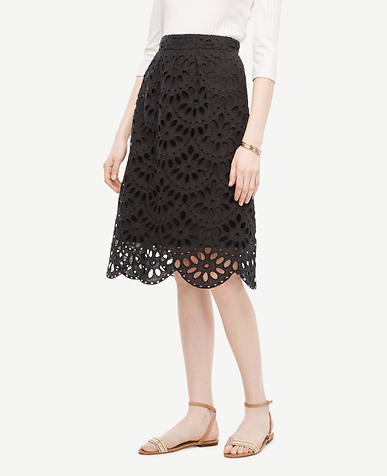 Image of Tall Scallop Eyelet Full Skirt