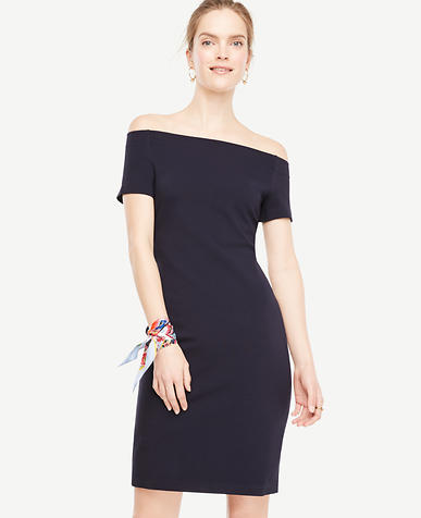 Image of Petite Off The Shoulder Shift Dress