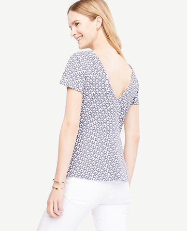 Image of Petal V-Back Peplum Top