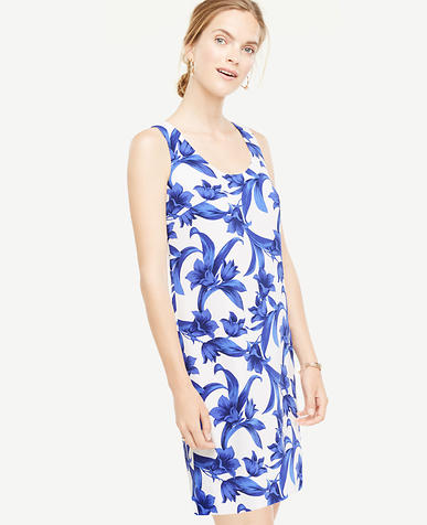 Image of Petite Tropical Garden Shift Dress