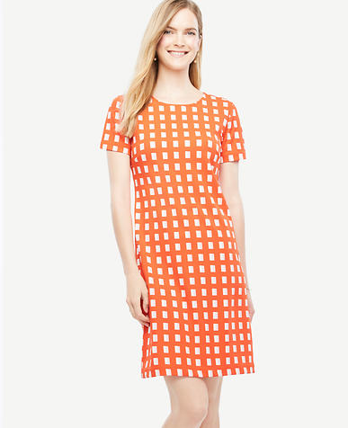 Image of Petite Geo Block Shift Dress