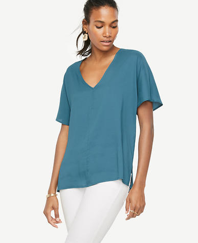 Image of OE Drop Shoulder Button Tee-P