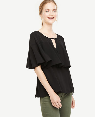 Image of Petite Tiered Ruffle Top