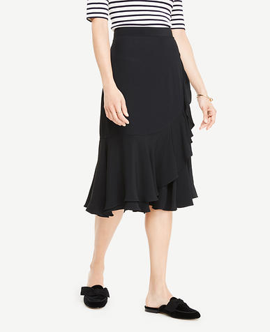 Image of Ruffle Midi Skirt