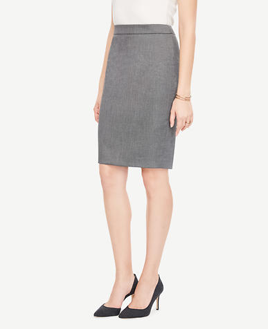 Sharkskin Pencil Skirt