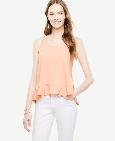 Image of Flounce Tank Top
