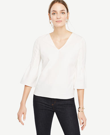 Image of Fluted Sleeve Top