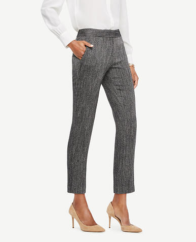 The Ankle Pant In Herringbone - Devin Fit