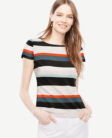 Image of Striped Cap Sleeve Top