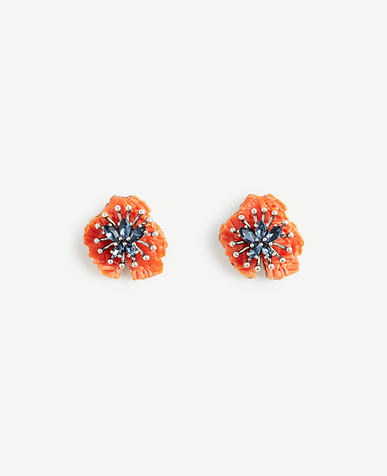 Textured Floral Stud Earrings