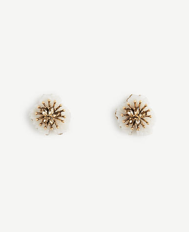 Image of Textured Floral Stud Earrings