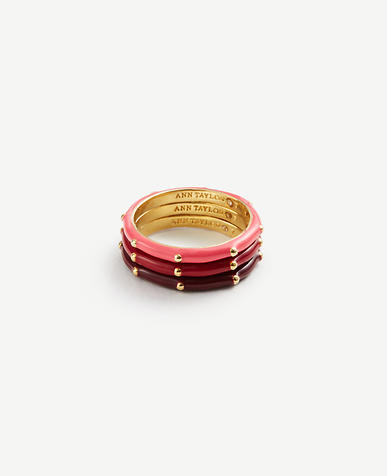 Enamel Stackable Rings
