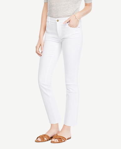 Image of Petite Raw Hem Kick Crop Jeans