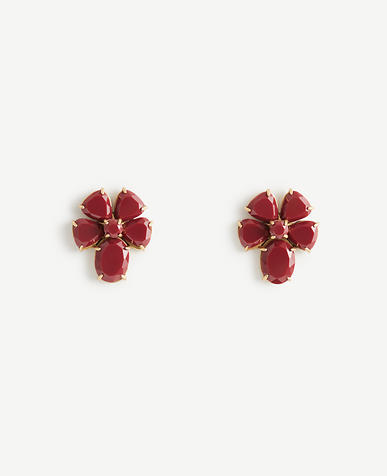 Resin Flower Stud Earrings