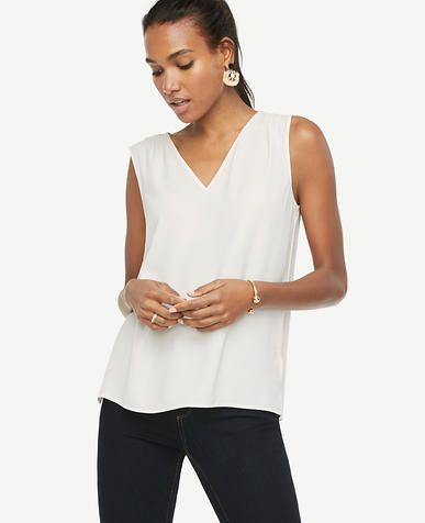 Image of Solid V-Neck Shell