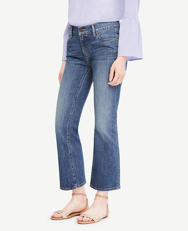 Image of Petite Flare Crop Jeans