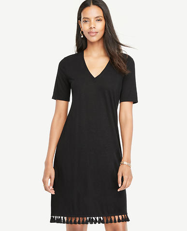 Image of Tassel Hem Shift Dress
