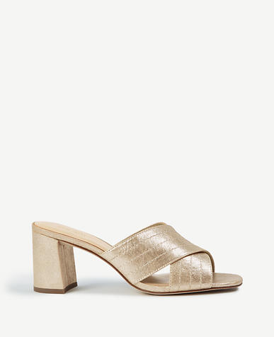 Honor Metallic Leather Heeled Sandals