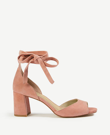 Nika Suede Block Heel Sandals