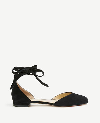 Image of Zuri Suede Almond Toe Flats