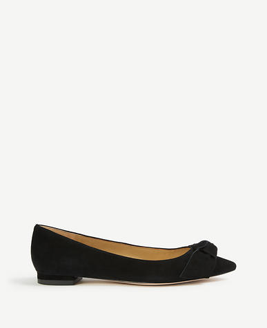 Camryn Suede Bow Flats
