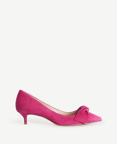 Ashlyn Suede Bow Pumps