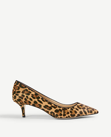 Reese Leopard Print Haircalf Pumps