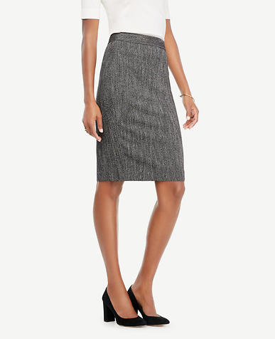 Petite Herringbone Pencil Skirt