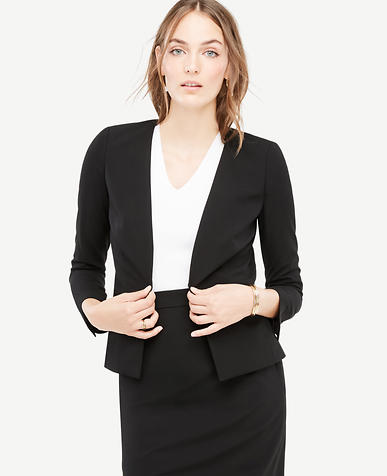 Petite Seasonless Stretch Back Peplum Jacket