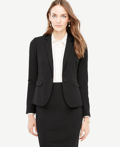 Tall Seasonless Stretch One Button Perfect Blazer