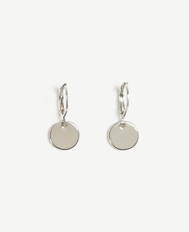 Image of Disc Drop Earrings