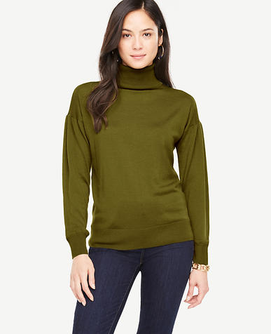 Extrafine Merino Wool Puff Sleeve Sweater
