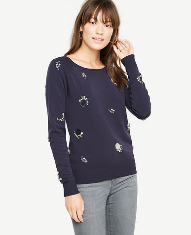 Embellished Sweater