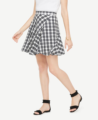 Image of Tall Plaid Flounce Skirt