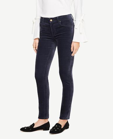 Curvy Skinny Velvet Jeans