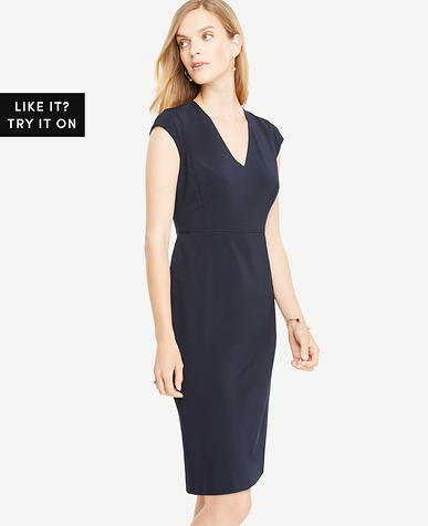 Seasonless Stretch Cap Sleeve Sheath Dress