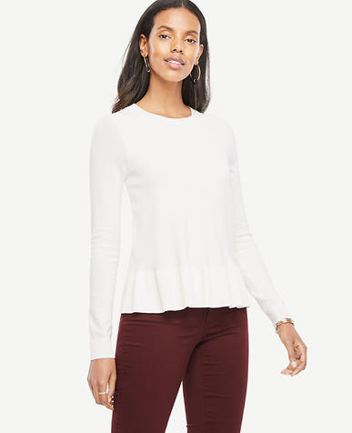 Image of Ruffle Hem Sweater