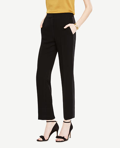 The Tuxedo Ankle Pant In Doubleweave - Devin Fit