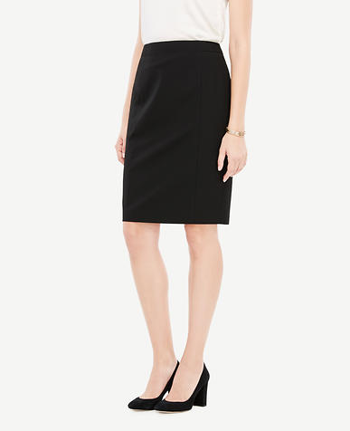 Curvy Seasonless Stretch Seamed Pencil Skirt