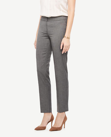 The Ankle Pant In Sharkskin - Kate Fit