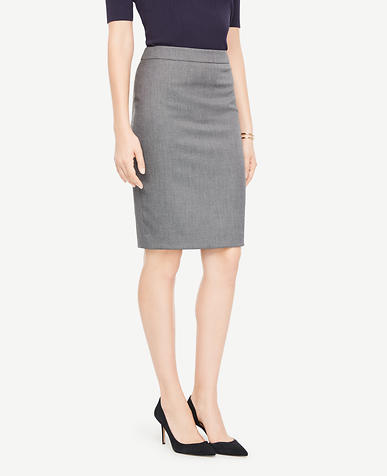 Curvy Sharkskin Pencil Skirt
