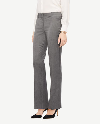 The Straight Leg Pant In Sharkskin - Ann Fit