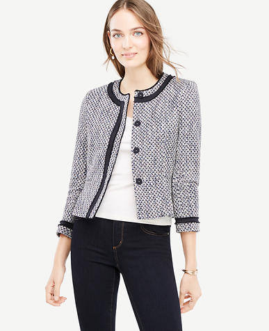 Petite Mixed Tweed Jacket