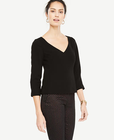 Doubleweave V-Neck Top