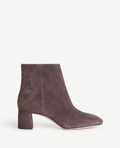 Eden Suede Heeled Booties